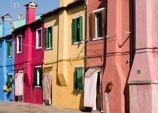 Colorful Burano facade Stock Photography