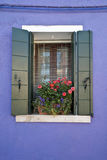 Colorful Burano Italy window Stock Photography