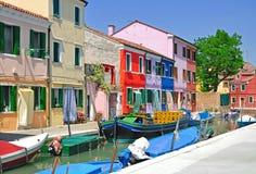 Colorful Burano,Lagoon of Venice royalty free stock photo