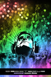 Colorful Burning Dj Background Royalty Free Stock Images