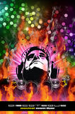 Colorful Burning Dj Background Stock Images