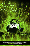 Colorful Burning Dj Background f Royalty Free Stock Photo