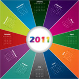 Colorful burst calendar Royalty Free Stock Photo