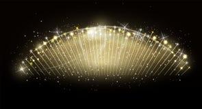 Colorful burst of fireworks against on black background. Vector. Illustration. EPS10 Stock Image