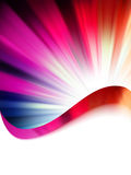 Colorful Burst rays with copyspace. EPS 8 Stock Image