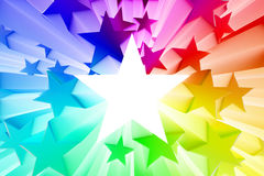 Colorful burst of stars. 3D render Stock Image