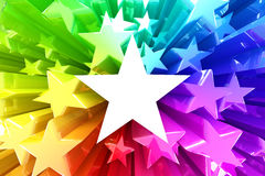 Colorful burst of stars. 3d render Royalty Free Stock Images