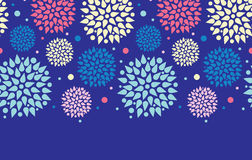 Colorful bursts horizontal seamless pattern Royalty Free Stock Photo
