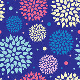 Colorful bursts seamless pattern background Royalty Free Stock Photo