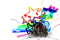 Clock bomb. Colorful bursts of time royalty free illustration