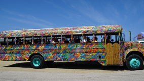 Colorful bus coach in Aruba Stock Image