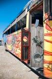 Colorful Bus Coach in Aruba Stock Photos