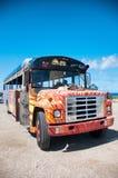 Colorful Bus Coach in Aruba Royalty Free Stock Photos