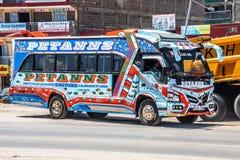 Colorful bus in nairobi, kenya royalty free stock images