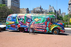 Colorful bus Stock Image