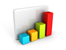 Colorful business bar chart graph diagram on white Stock Photo
