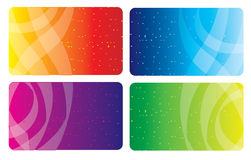 Colorful business card Stock Images