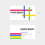 Colorful business card for corporate identity Stock Image