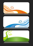 Colorful business card themes Stock Photos