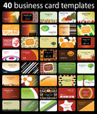 Colorful Business Card Vectors Stock Images