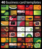 Colorful Business Card Vectors Royalty Free Stock Images