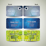 Colorful Business Cards Stock Photography