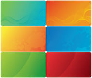 Colorful business cards Royalty Free Stock Image