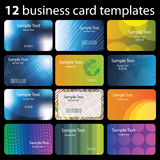 12 Colorful Business Cards. With Abstract Designs - Illustration in Freely Scalable and Editable Vector Format vector illustration