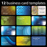 12 Colorful Business Cards Royalty Free Stock Photography