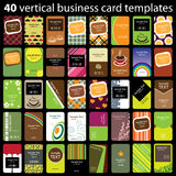 40 Colorful Business Cards Royalty Free Stock Photos