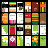 24 Colorful Business Cards Stock Photo