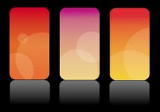 Colorful business cards - fire colors. Abstract business card themes in three different color versions Stock Photos