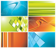Colorful business cards set Stock Photography