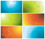 Colorful business cards set Royalty Free Stock Photography