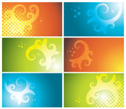 Colorful business cards set Royalty Free Stock Photo
