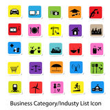 Colorful Business Category and Industry List Icon Stock Image
