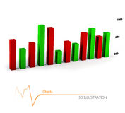 Colorful Business Chart, Reports and Presentations Stock Images