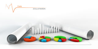 Colorful Business Chart, Reports and Presentations Stock Photo