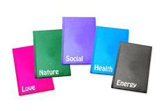 Colorful business concept notebook Royalty Free Stock Photography