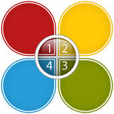 Colorful Business Diagram Glossy Royalty Free Stock Photo