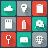 Colorful Business Flat icons. Illustration of Colorful Business Flat icons Stock Photo