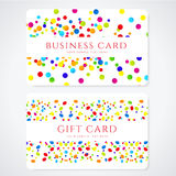 Colorful Business / Gift card template. Abstract royalty free stock photography