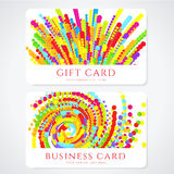 Colorful Business / Gift card template. Abstract Stock Photos