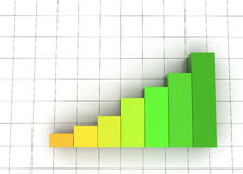 Colorful business graph Stock Photo