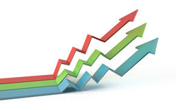 Colorful business graph 3d Royalty Free Stock Images