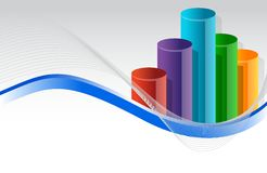 Colorful business graph illustration design Royalty Free Stock Photos