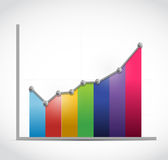 Colorful business graph illustration design Stock Photography
