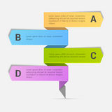 Colorful Business Infographic arrows. Colorful Business Infographic arrows with alphabets on grey background Royalty Free Stock Photo