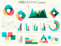 Colorful Business Infographic elements. Various colorful Business Infographic elements including statistical graphs and charts for your professional reports Stock Photo