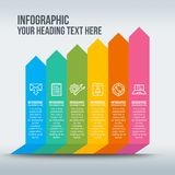 Colorful business infographic with rising bars Royalty Free Stock Images